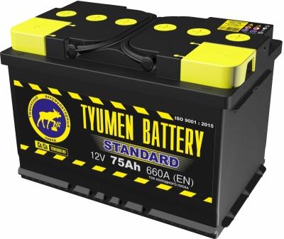 Аккумулятор Тюмень STANDARD (Ca/Ca) 6СТ-75L